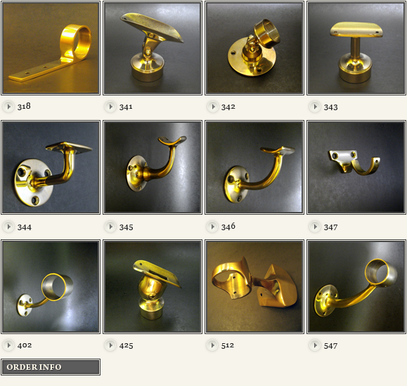 Brass Handrail Fittings